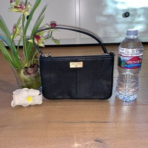 Cole Haan Black Leather Mini Purse Wristlet Clutch
